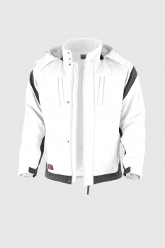 Softshelljacke Qualitex PRO Winter weiß/grau