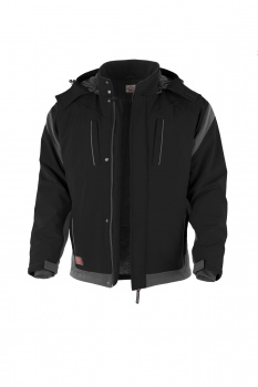 Softshelljacke Qualitex PRO Winter schwarz/grau